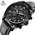 Luxury OCHSTIN Quartz casual Watches Men analog chronograph Sports Military Leather Strap Fashion Wrist Watch Relogio Masculino