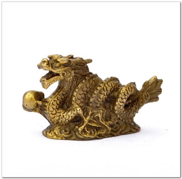 Dragon de cuivre décoration dragon d'or feng shui produits décoration artisanat