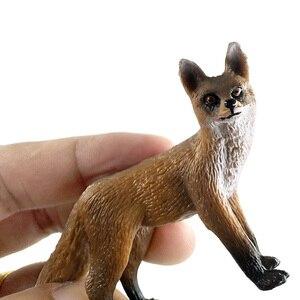 Image 2 - Natale piccola volpe coniglio scoiattolo foresta simulazione modello animale figura decorazione fai da te giocattolo educativo figurina regalo per bambini