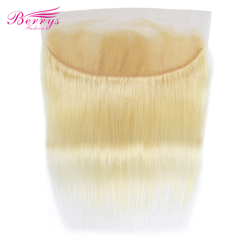 Straight-Color 613 Hair-Frontal Human-Hair Blonde Berrys Fashion Remy Brazilian 13x4