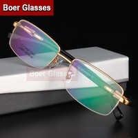 純チタン眼鏡の男性メガネ近視眼鏡光学処方フレームためフォーカス 9910 (55-18 -142)