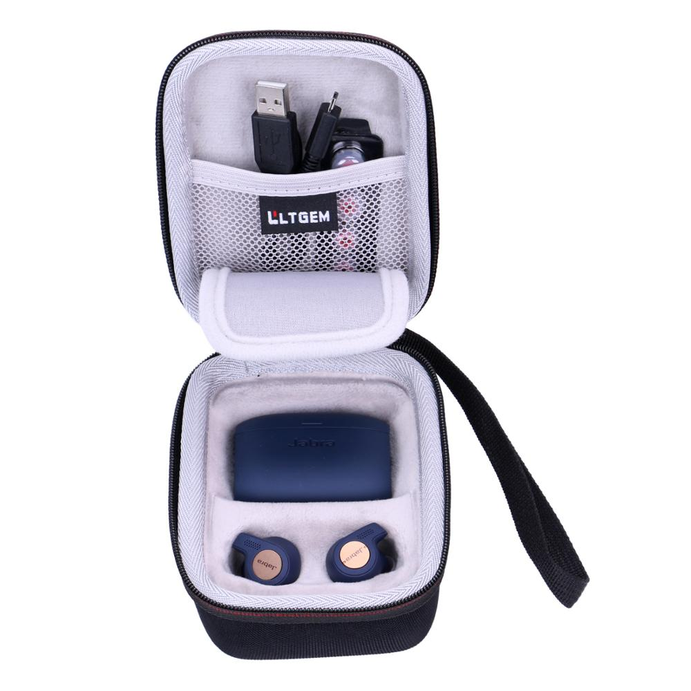 LTGEM EVA Waterproof Shockproof Carrying Hard Case For Jabra Elite Active 65t Alexa Enabled True Wireless Sports Earbuds