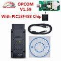 2017 Alta Qualidade Opcom V1.59-Op Com CAN BUS OBD2 Scanner de Diagnóstico OPCOM Para Opel OP com 1.59 V Com PIC18F458 Chip Livre navio