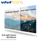 VIVIBRIGHT 60/100 inch Anti-light Screen, 16:9 Brightness Enhancement Screen for LED Projector DLP proyector, Home Cinema