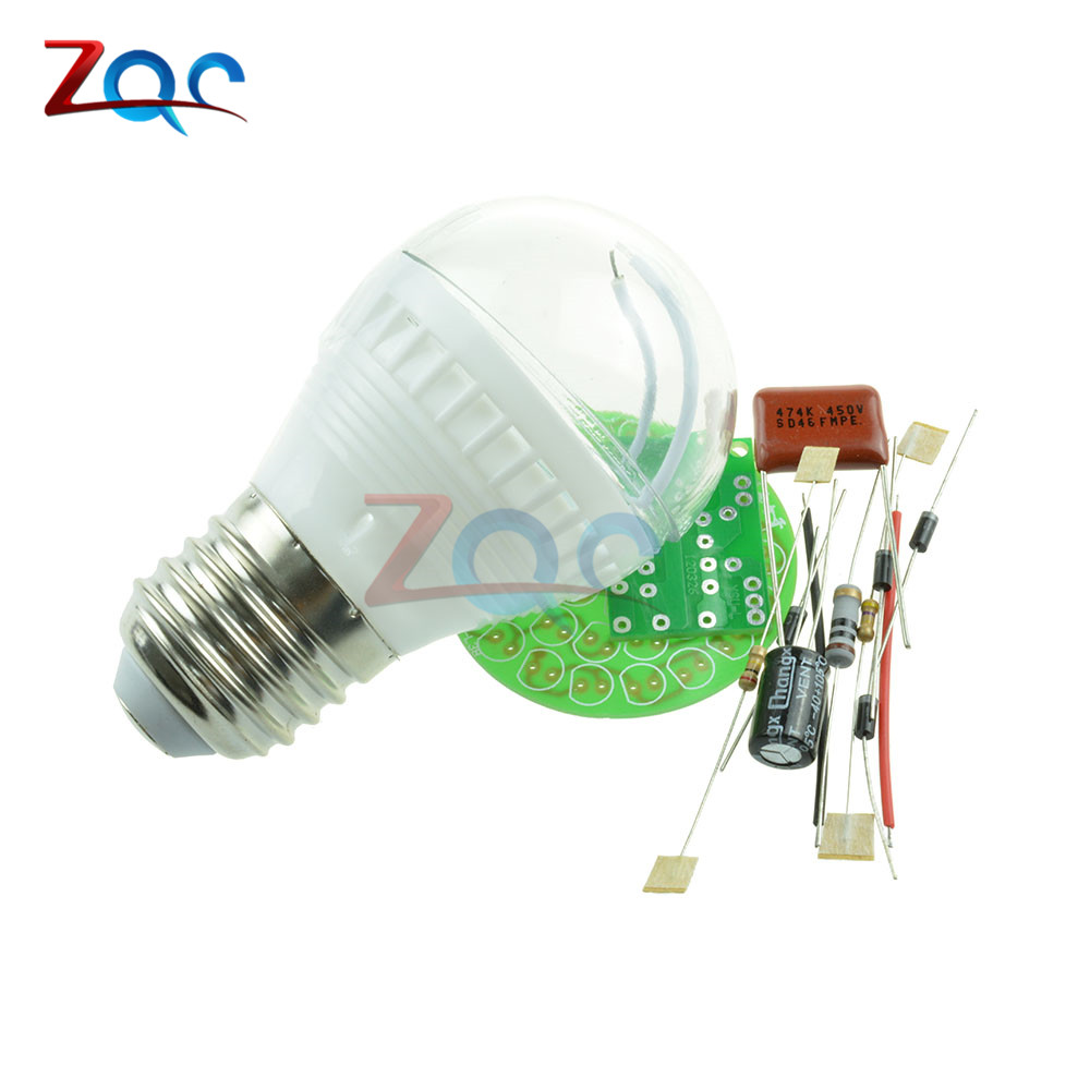 1Set Energy-Saving 38 LEDs Lamps DIY Kits Electronic Suite High Quality 6