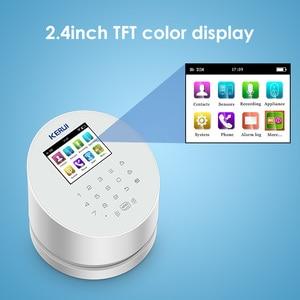 Image 2 - KERUI W2 planlı kol APP uzaktan kumanda kablosuz WiFi GSM PSTN ev güvenlik Alarm sistemi RFID kart ile Siren Alarm sistemleri