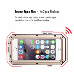 Image 5 - Heavy Duty Protection Case for iPhone 7 6 6s Plus 5 5s SE Cover Metal Aluminum Shockproof Armor Phone Cases + Glass Screen Film
