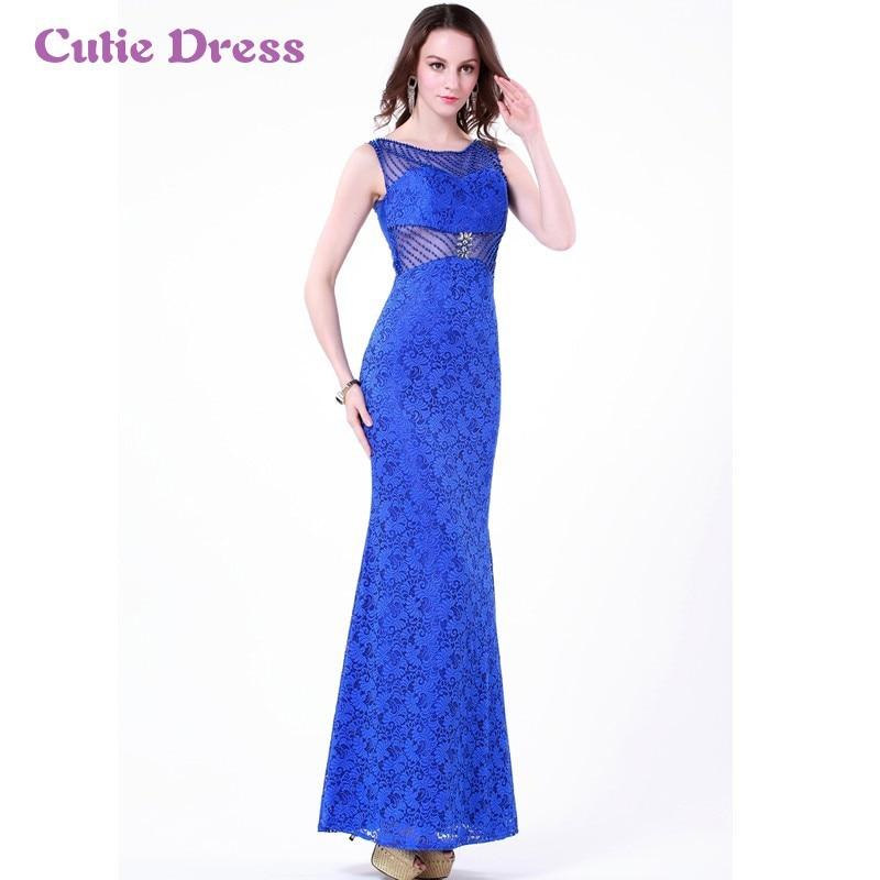 c0cf08fc8 Vestido largo azul rey encaje – Vestidos baratos