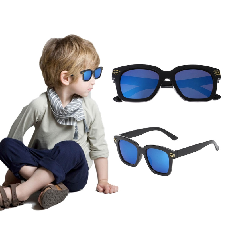 Fashion New 1 Pc Boys Girls Square Sunglasses Kids Children Skull Cool Outdoor Eyewear Brand Designer UV400 High Quality 2018