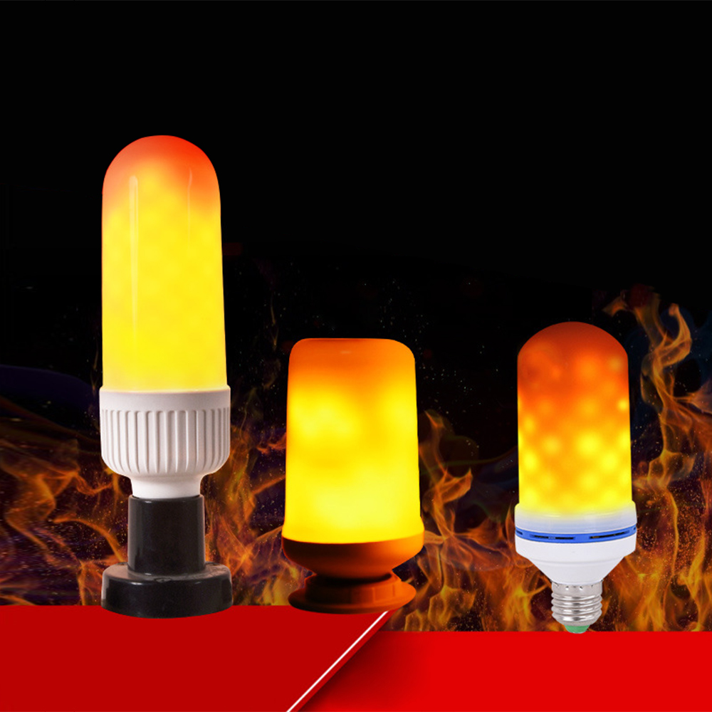 3 Modes E27 LED Flame Bulbs 7W 2835 SMD Flickering Fire Effect Lights For Holiday Festival Home Atmosphere Decorative Lighting