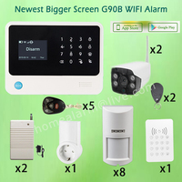 Touchscreen English Spanish French Russian Menu APP Controlled WIFI GSM Alarms G90B With WIFI IP Camera