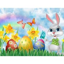 Cartoon Rabbit Butterfly With Easter Egg 5D DIY Full Diamond Painting Embroidery Drill Needlework Cross Craft Stitch Kit
