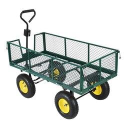 Panana Heavy Duty Giardino Trolley Carrello 4 Wheel barrow Quad Rimorchio Grande 500kg Sacco camion