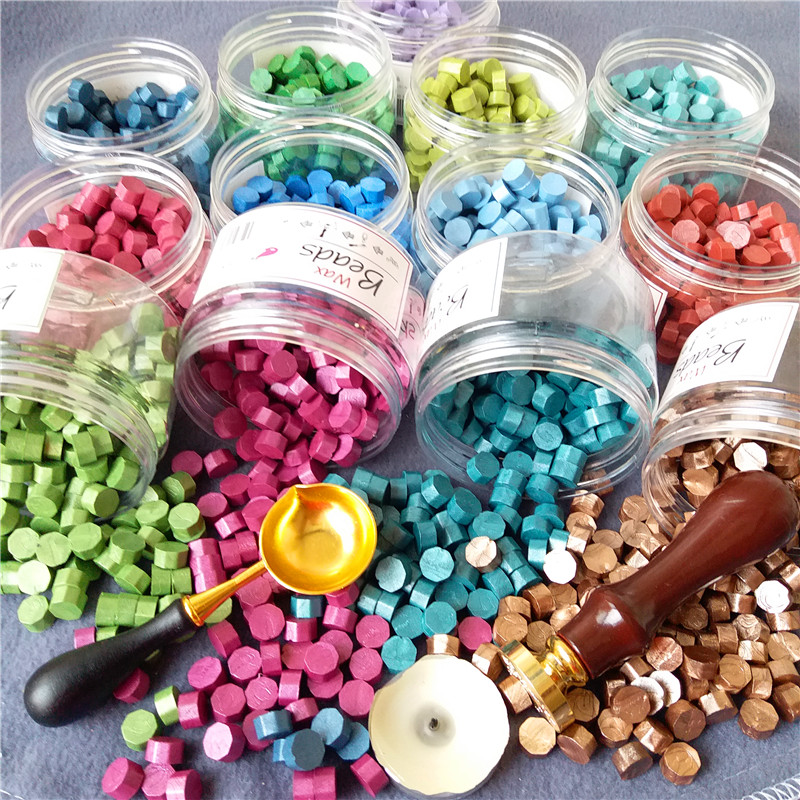 New Sealing Wax Beads  Multicolor Octagon Sealing Wax Wax Seal/Lacquer Sealing Wax Special Spoon For DIY About  150pcs/bottle