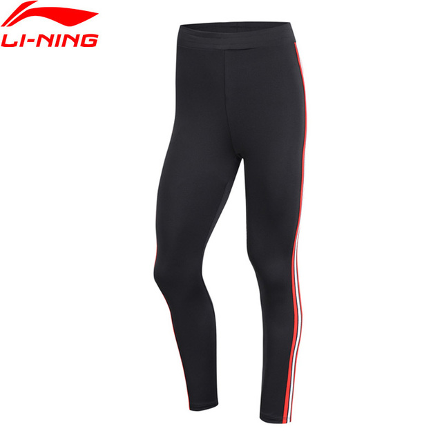 Li-Ning Women The Trend Sports Pants Base Layer Tight Fit Comfort 93% Polyester 7% Spandex LiNing Sport Trousers AULP044 WKY228