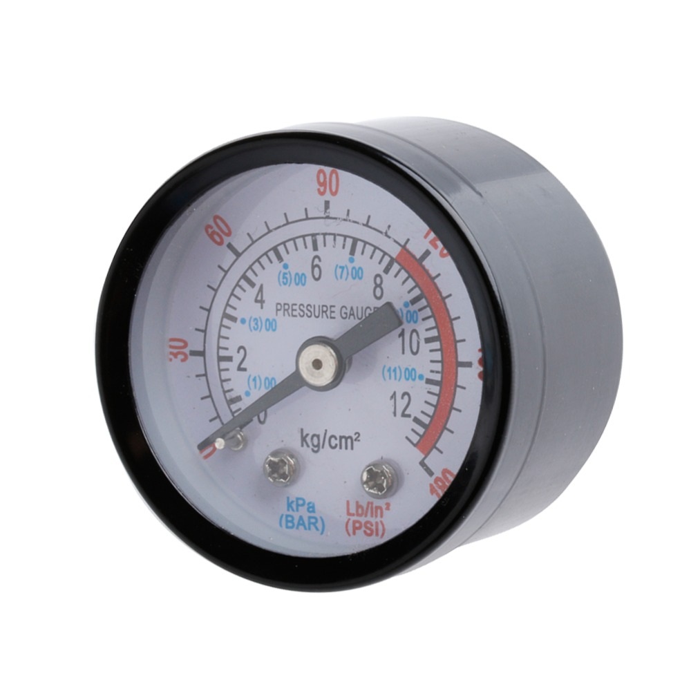 Air Compressor Pneumatic Hydraulic Fluid Pressure Gauge 0-12Bar 0-180PSI New rubber seals for fluid and hydraulic systems