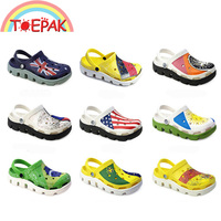 National Flag Sandals Women Croc Hole Shoes Kids Slippers Children Big Boys Men Beach Outdoor Home Daily Wear Resistance