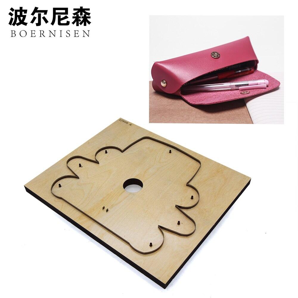 Le poinçon de laser en cuir fait sur commande meurent la lame en acier japonaise PVC/EVA plaque découpée meurent le sac de lunettes porte-crayon outil en cuir découpant la matrice