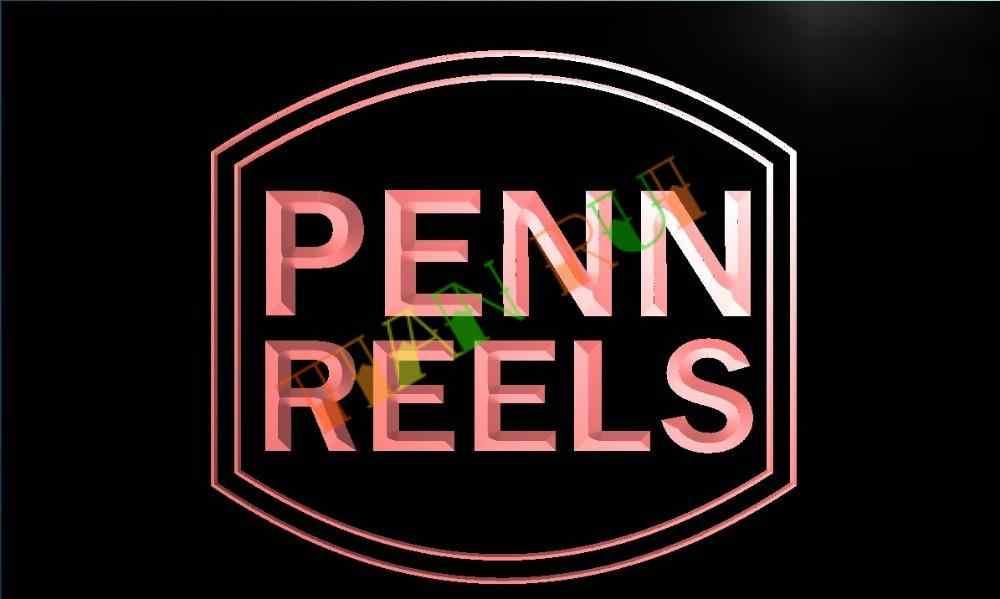 TR003- Penn Reels Fishing Logo LED Neon Light Sign home decor crafts