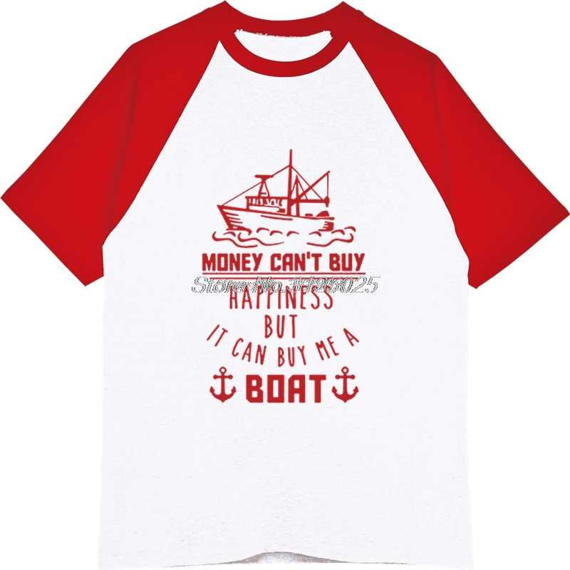 ... Funny Gifts For Fishermen T Shirt Money Can't Buy Happiness But It Can Buy ...