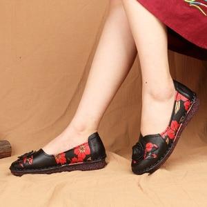 Image 3 - GKTINOO 暖かい本物のレザーシューズ冬秋の女性バレエフラットローファー女性フラット靴 Zapatos Mujer