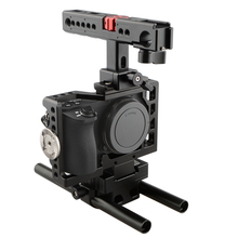 CAMVATE Camera Cage DSLR Video Rig Top Handle Grip with HDMI Cable Protection for Sony A6500 Fotografia Kit C1433