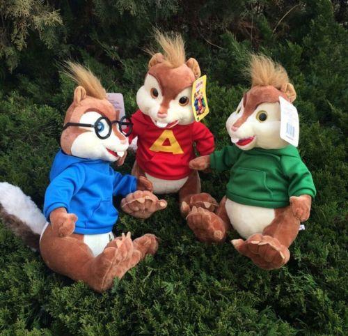 3 pcs Alvin et les Chipmunks Simon Theodore peluche jouet naissance cadeau de noël 9