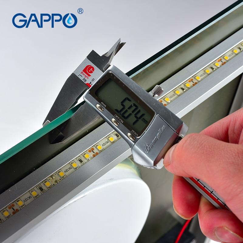 Gappo luz para espejo de baño con LED maquillaje luces de espejo para baño ESPEJOS rectangulares - 3