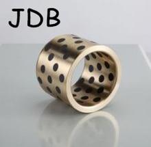 JDB6580/JDB658080 (ID * OD * L = 65*80*80 мм) Oilless Подшипника   само-смазочных пропитанные графитом Латунь/Медь Фланец втулки