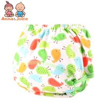 1Pcs Baby Reusable Diapers Cloth Diaper Washable Infants Nappies Diapers Cute Baby Cotton Training Pants(China)