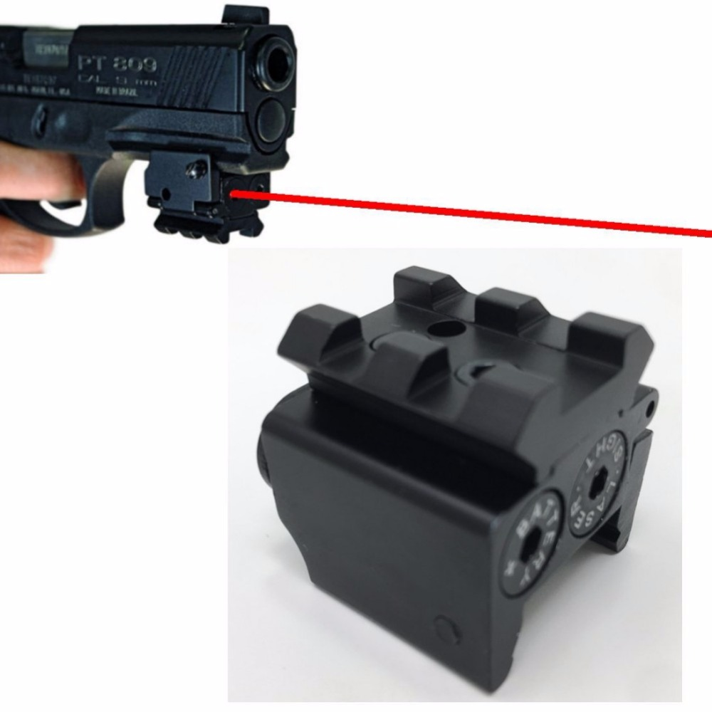 Outdoor Mini Red Dotted Dovetail Small Laser Sight Red Dot Lazer Sight Pistol Tactical Sights Airsoft Laser Sight New
