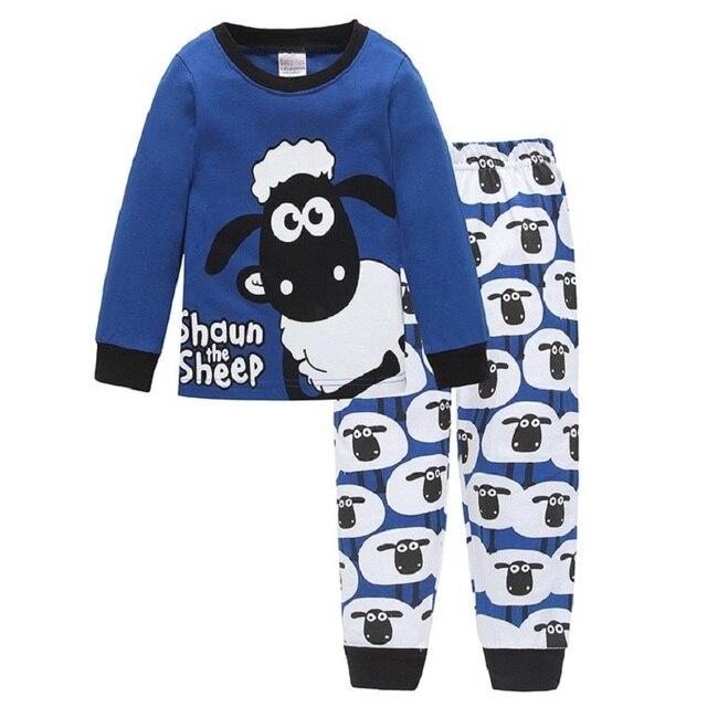 436d82106 Cute Sheep Children Pajamas Sets Kids Sleepwear suit Sleeved T ...