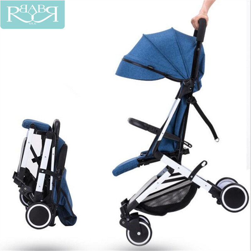 Babyruler Portable Baby Stroller Lightweight Folding Umbrella Stroller Baby Carriages Car Can Sit Can Lie Children Baby Trolley