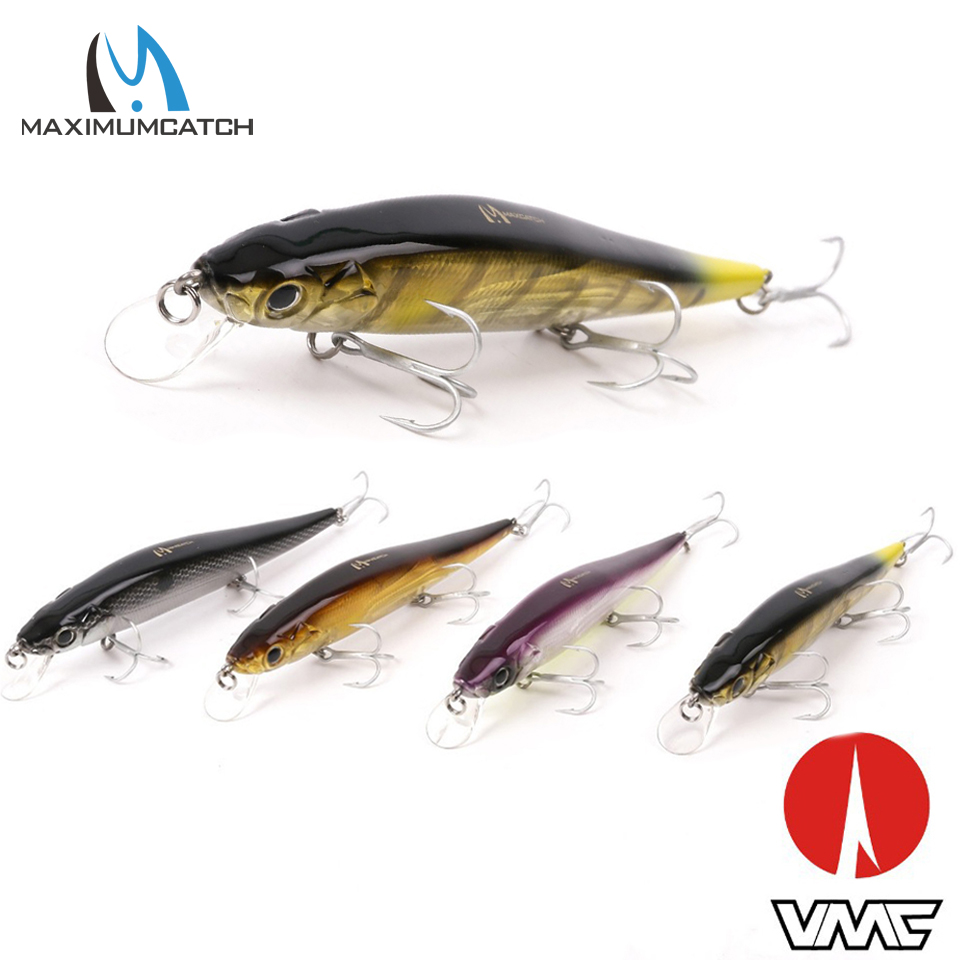 Maximumcatch 4 Pcs Fishing Lures Crank Bait With VMC Hooks Minnow Bass Fishing Lures Artificial Bait Floating Lures