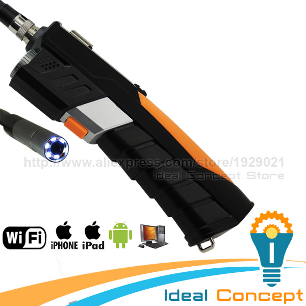 WIFI Borescope Inspection 8.5mm Camera Endoscope iOS Android 1W LED Flash 6 LED Camera 1M Cable