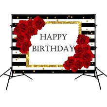 5644850f5 Mehofoto cumpleaños fiesta telón de fondo Fotografía Blanco y negro de  rayas de fondo rojo rosa telón de fondo para estudio de f.