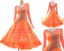 Ballroom Competition Dance Dress Women Stage Perform Dancingwear High Quality Standard Waltz Dresses Adult