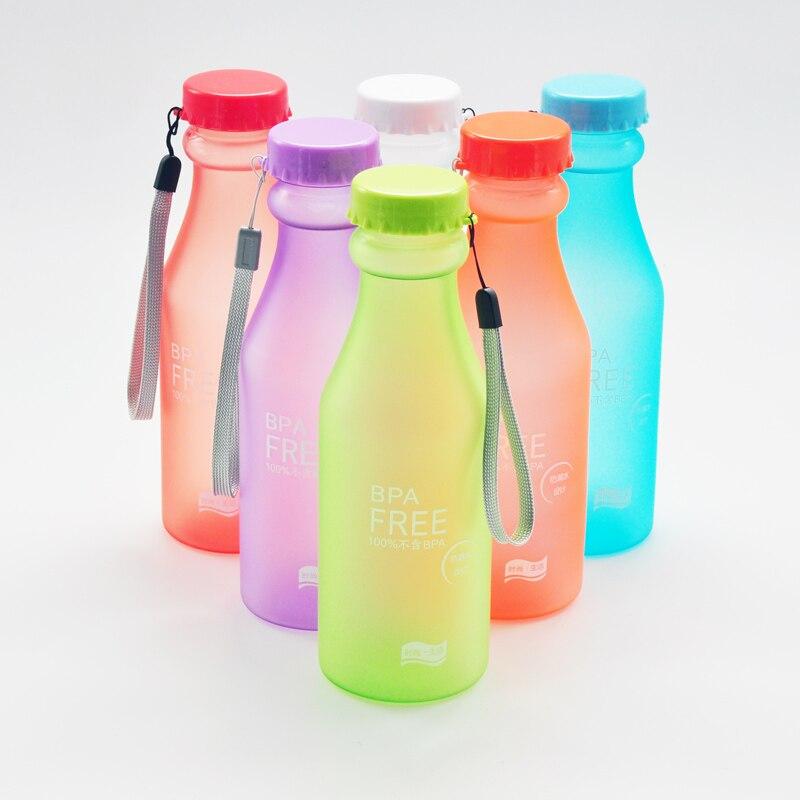 550ml Portable Plastic Water Bottle Bpa Free Unbreakable Sport Bottles Outdoor Camping Drinkware Accessories