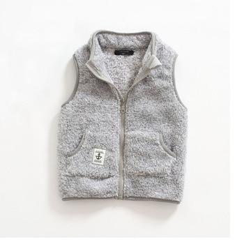 Kid's Contrast Trim Plush Vest 3