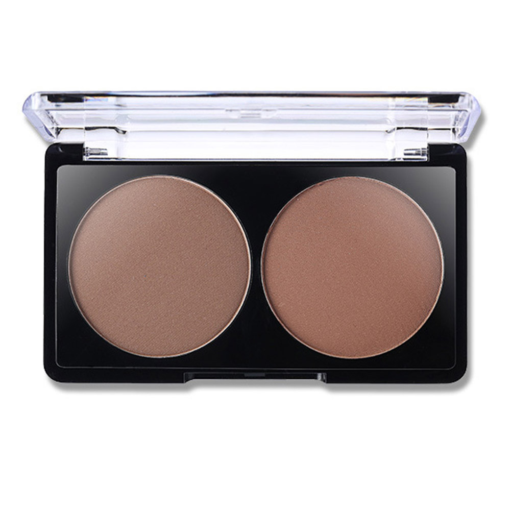 2 Colors Highlighter Powder Palette Face Shading Trimming Makeup Face Contour Grooming Facil Concealer Pressed Powders @