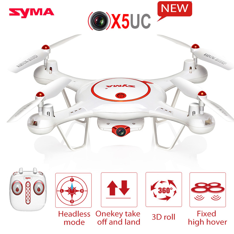 Upgrade X5C Latest SYMA X5UC Helicopter With 2.0MP HD Camera Drone  Hover Function Headless Model One Key Land RC Quadcopter new jjrc h51 rc helicopter mini selfie drone with camera hd 720p wifi one key return helicopter 6 axis 2 4hz vs h37 mini drone