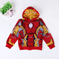 2016 capas de los niños chicos ropa sudaderas niños Avengers los Hoodies niños sudaderas historieta Lron-Man muchacha del bebé ropa