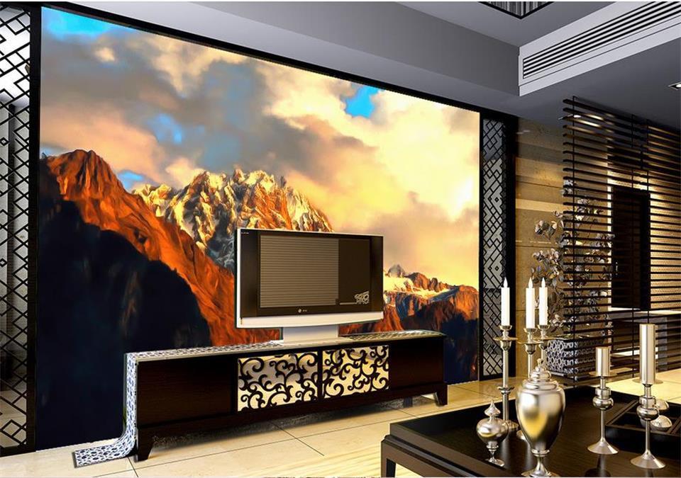 100% Waar Custom 3d Foto Behang Kamer Muurschildering Bereik Berg Top Schilderen Foto Sofa Tv Achtergrond Vliesbehang Muurschildering
