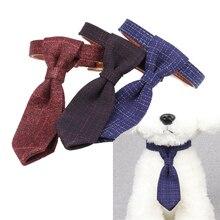 Bow Tie Dog Collar Striped Bowtie Collar Pet Adjustable Neck Tie Dog Necktie Party Wedding