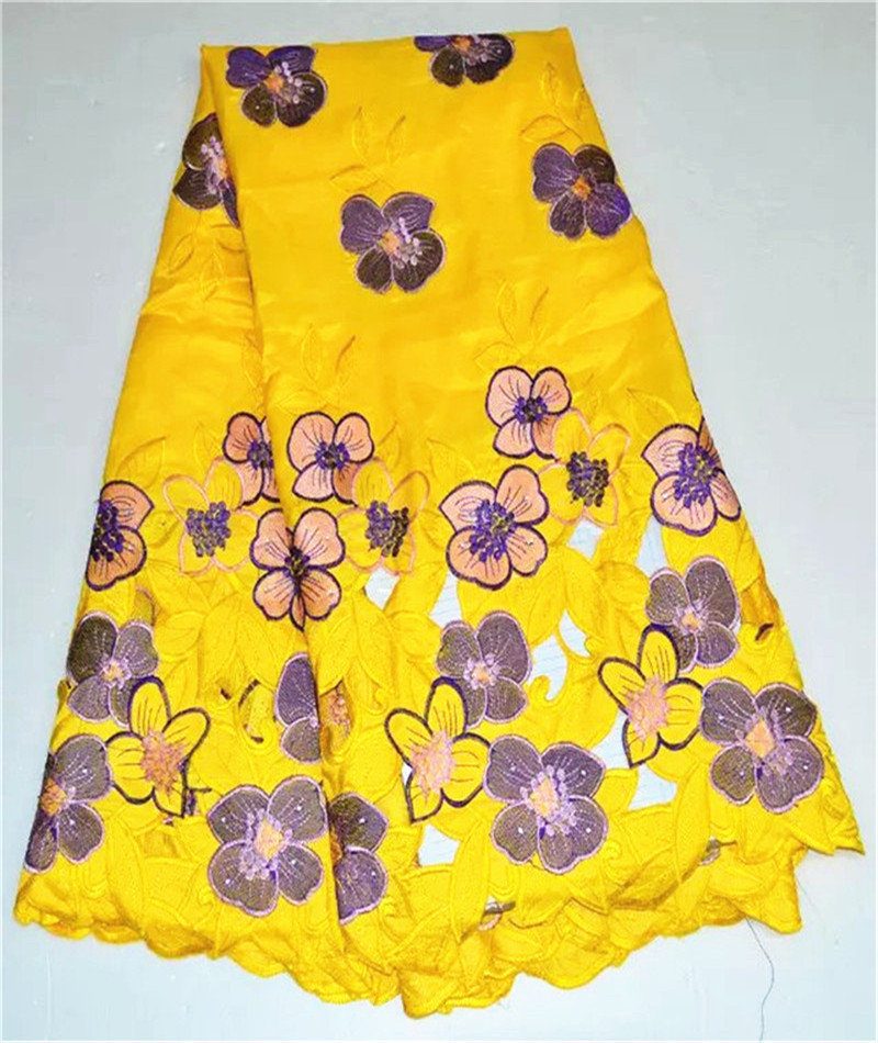 Wonderful swiss design yellow with purplepeach flower embroidery wonderful swiss design yellow with purplepeach flower embroidery cotton lace fabric african silk lace material for dress 4s01 5 in fabric from home mightylinksfo
