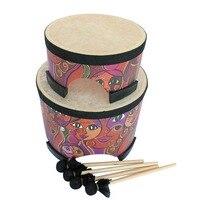 8 Inch 10 Inch Professional Cowhide Drum Djembe Drum Bongo Wooden Sound Musical Instrument Art ABS Barrel PVC Skin Hand Drum