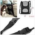 Asientos de Coche Portable Oxford Negro + Mesh Pet Dog Barrera de Aislamiento Protector de Barrera