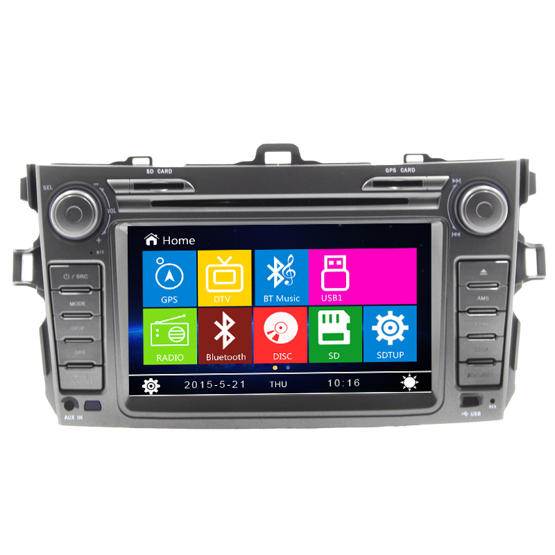 Top Audo Car DVD Player Bluetooth For Toyoto 2012 Corolla With GPS Navigation Stereing Wheel Control