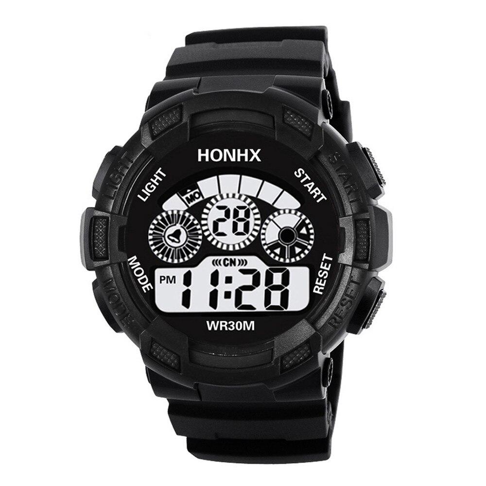 2018 Fashion Mens Digital LED Men Watches Brand Luxury Analog Quartz Alarm Date Sports Wrist Watch Relogio Masculino Saat Gift