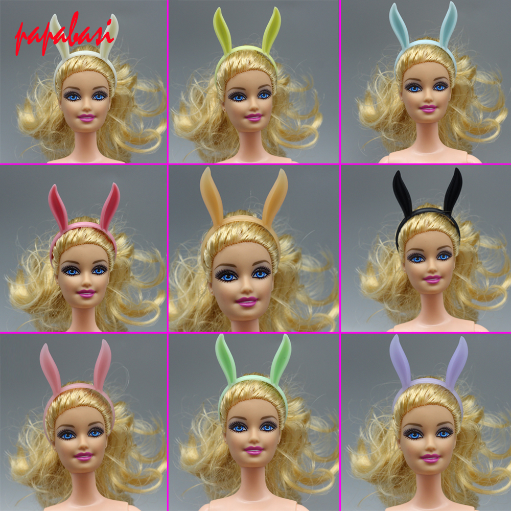 1PCS Doll Accessories mini colourful rabbit ear hair band for Barbie dolls as for 1 12
